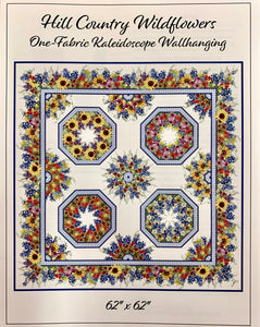 Hill Country Wildflowers Kaleidoscope Quilt Kit Small (Out of Stock, Still Available on Back Order)
