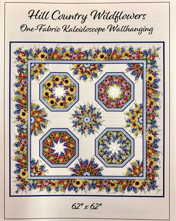 Hill Country Wildflowers Kaleidoscope Quilt Kit Small