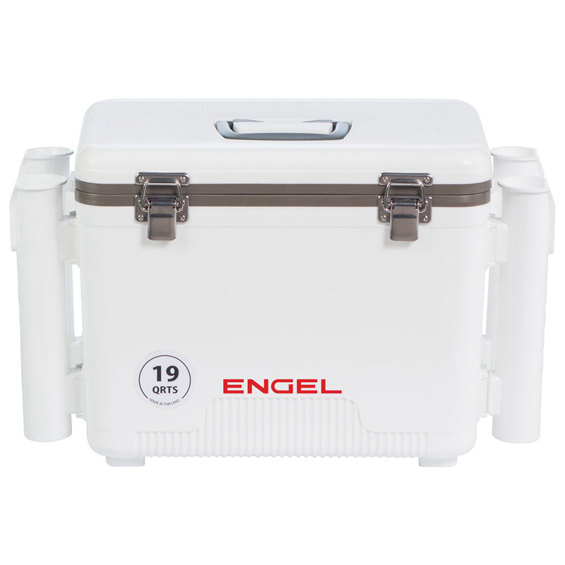 Engel 19 quart leak-proof air-tight drybox/cooler with rod holders