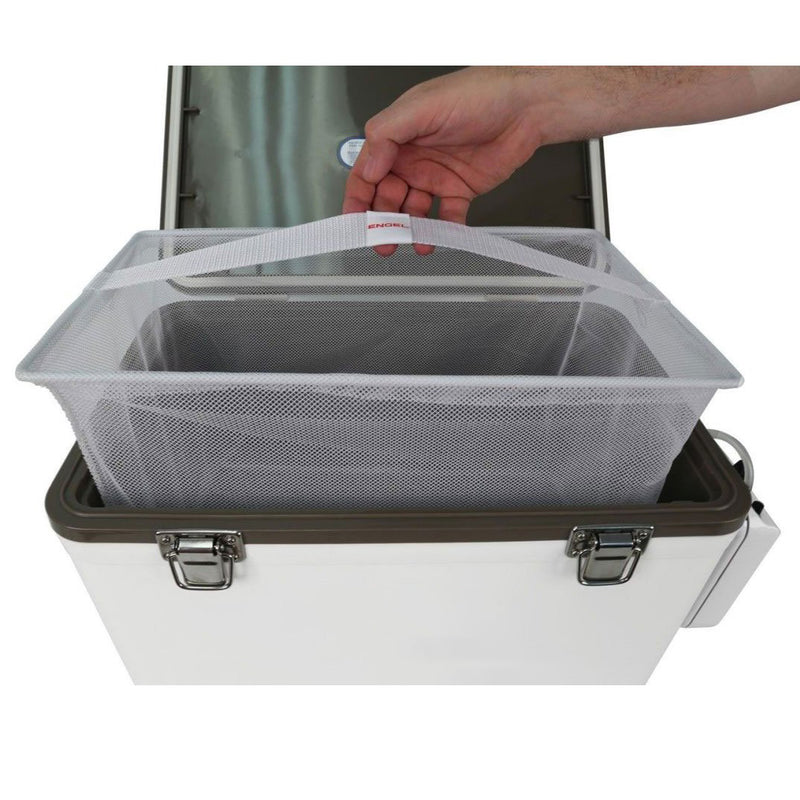 30q Live Bait Drybox/Cooler with 2 speed aerator pump and 4 rod holders.