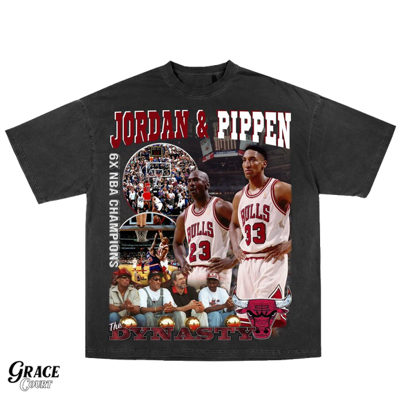 Michael Jordan and Scotty Pippen Vintage Style Tee
