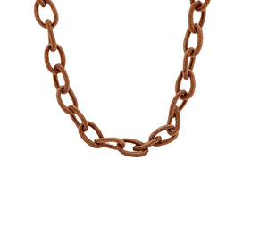 Chocolate Brown Silk Mask Chain