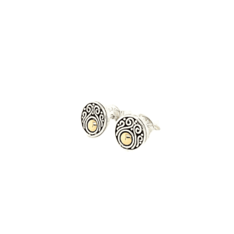 Om Circle Stud Earrings