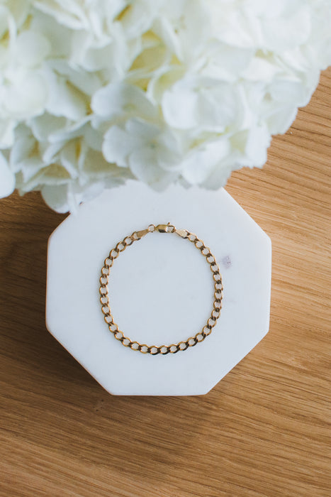 Recycled Gold Curb Bracelet