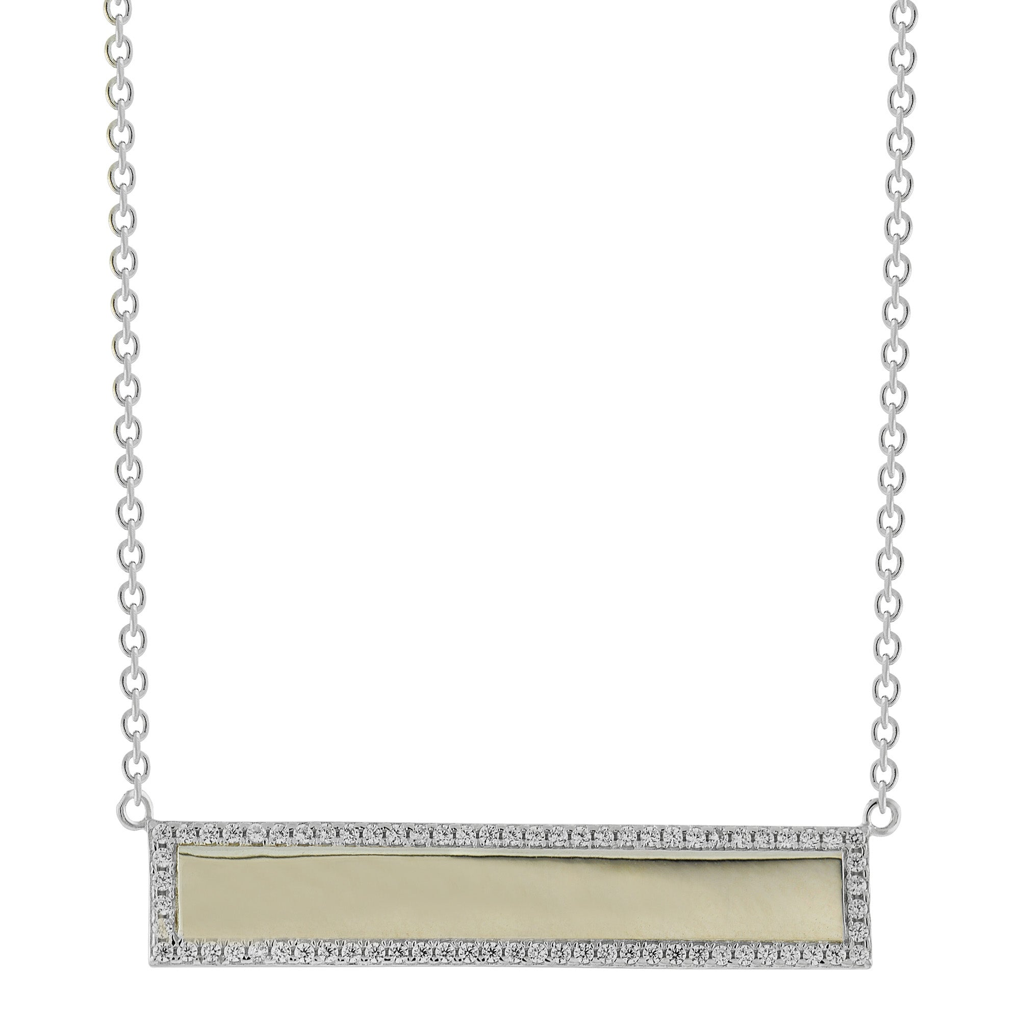 Border Name Plate Necklace