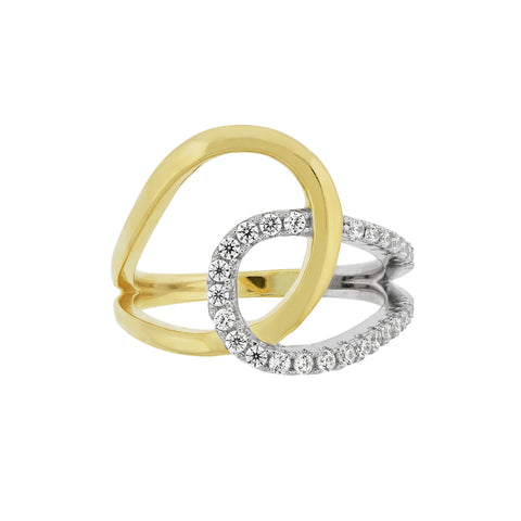 Two Tone Interlock Ring