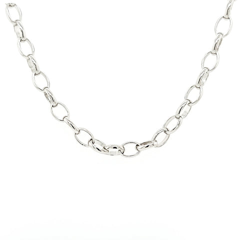 Sterling Silver Oval Link Mask Chain
