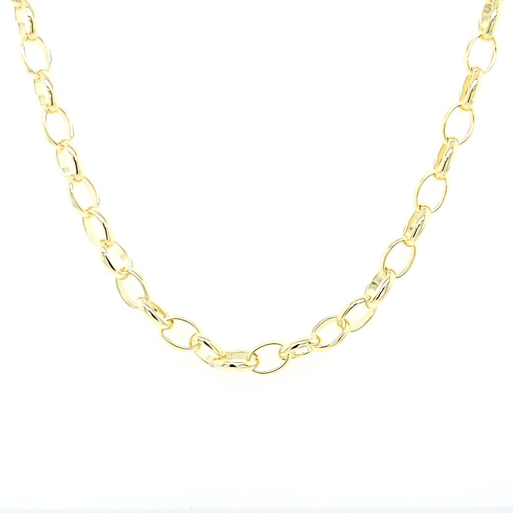 Gold Oval Link Mask Chain