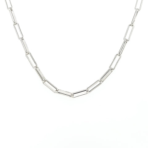 Sterling Silver Paper Clip Mask Chain
