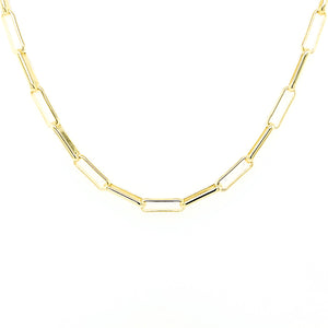 Gold Paper Clip Mask Chain