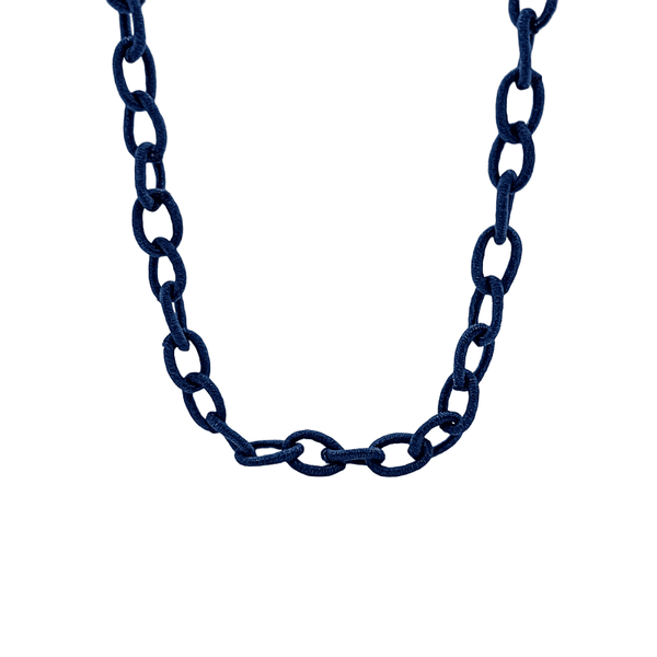 Navy Silk Mask Chain