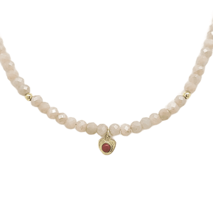 Moonstone Beaded Necklace