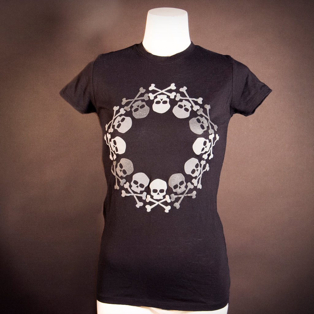 Midnight Machete Circle Skull Ladies Tee