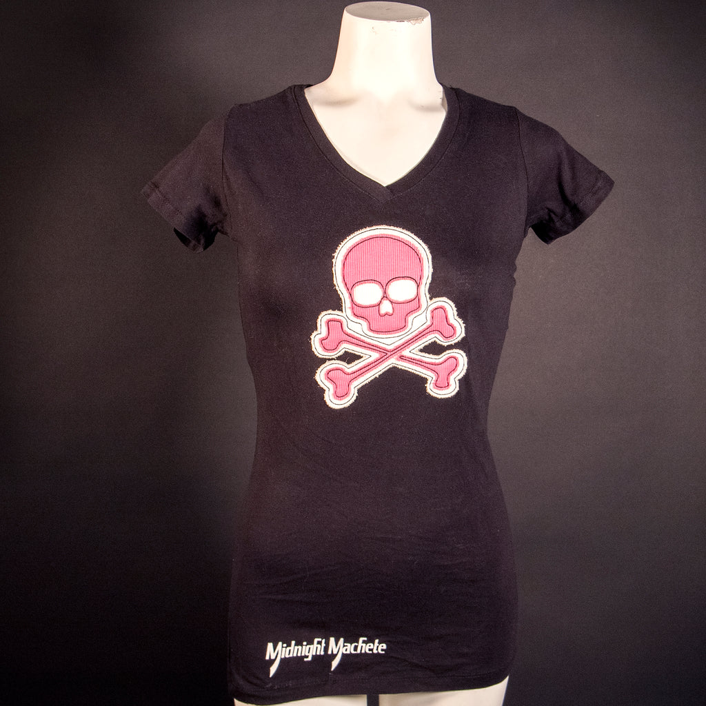 "Midnight Machete Pink ""Stitch"" Ladies T-shirt"