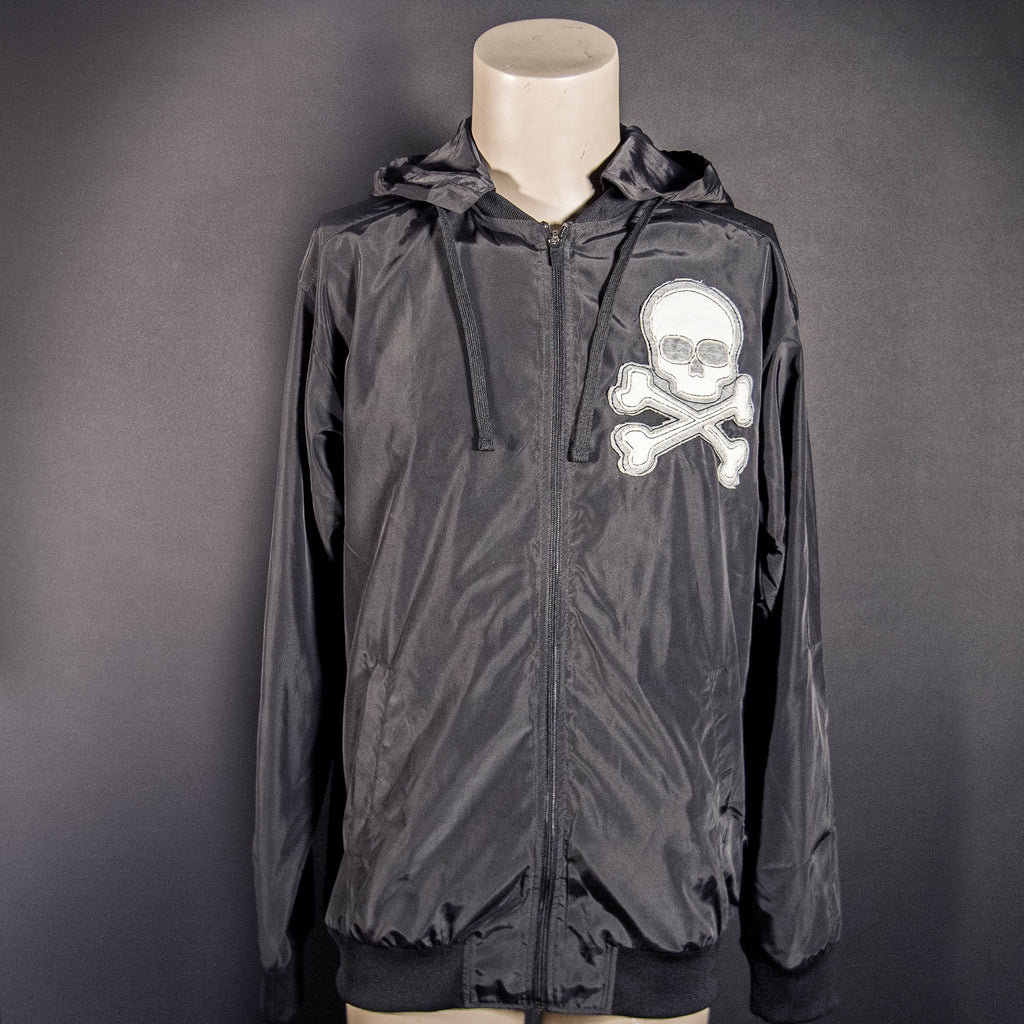 Midnight Machete Jacket - White Skull Patch