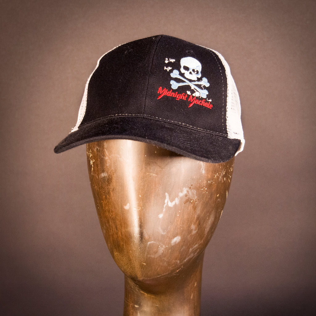 Midnight Skull-n-Roses Trucker Hat