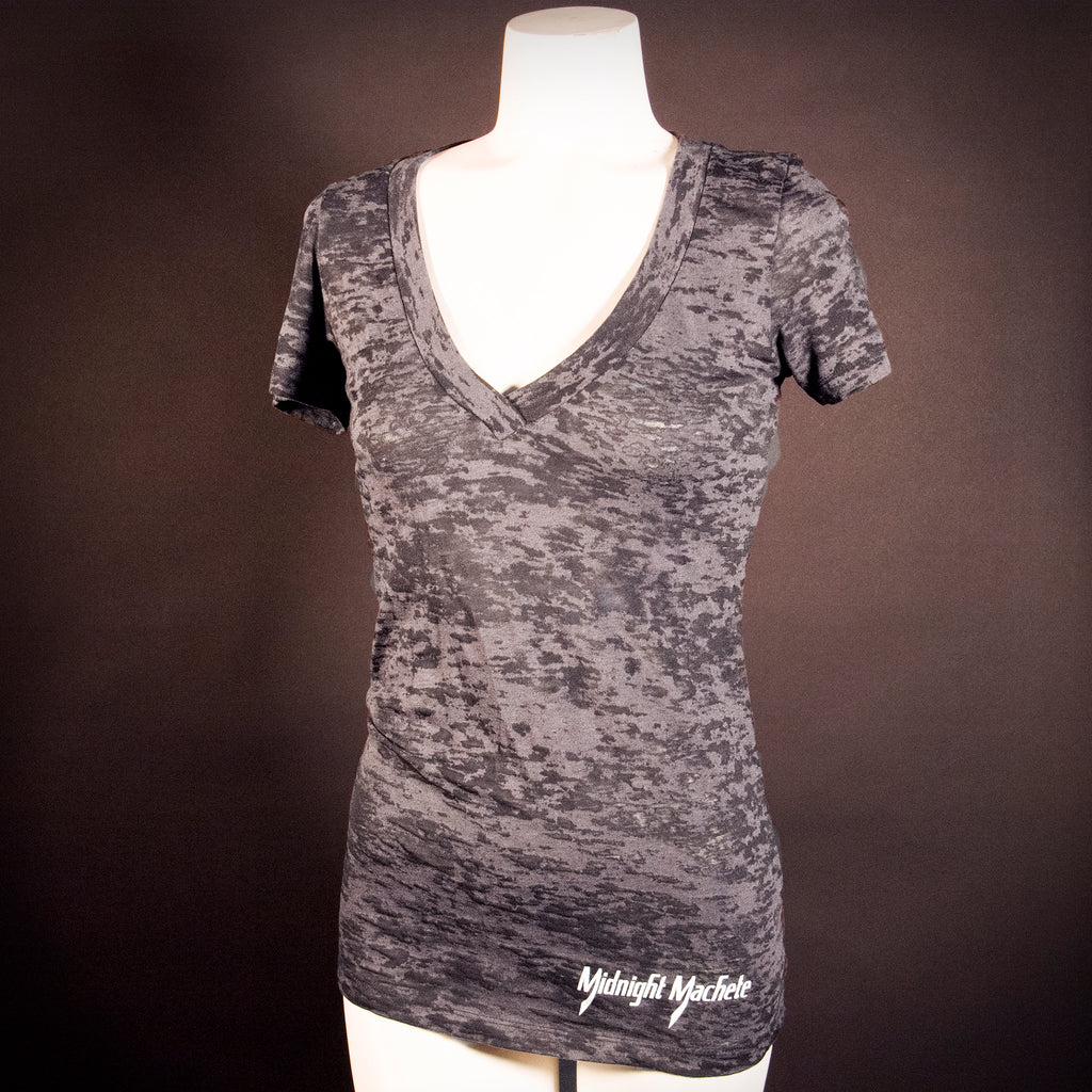 "Midnight Machete Ladies ""Burnout"" Tee - Front"