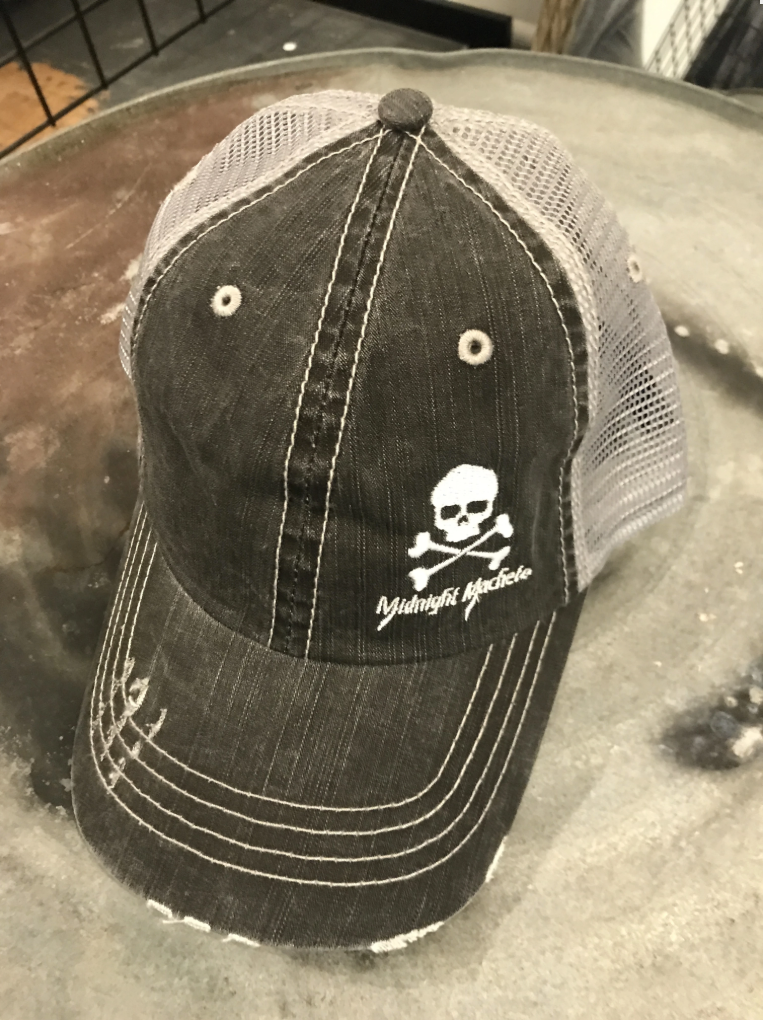 Midnight Skull Trucker Hat