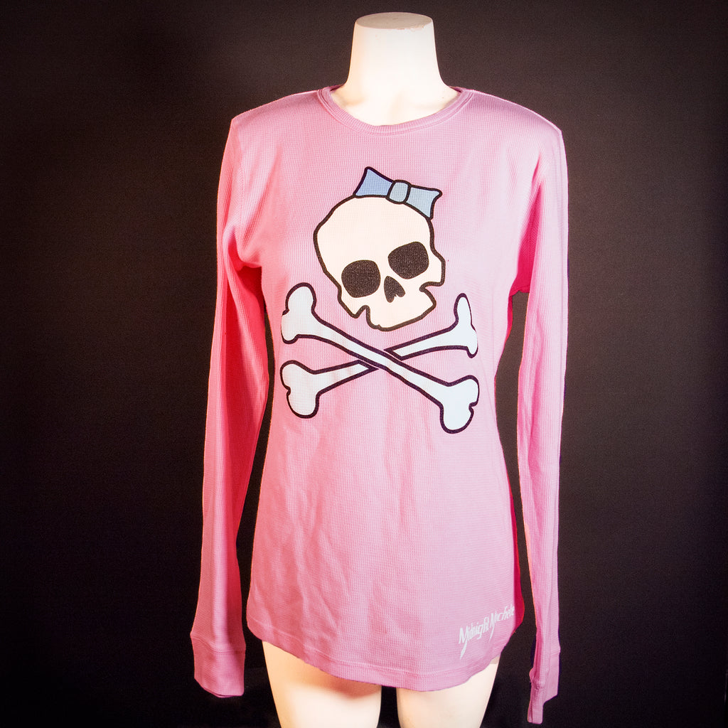 Midnight Machete Skull-n-Bows Ladies Thermal