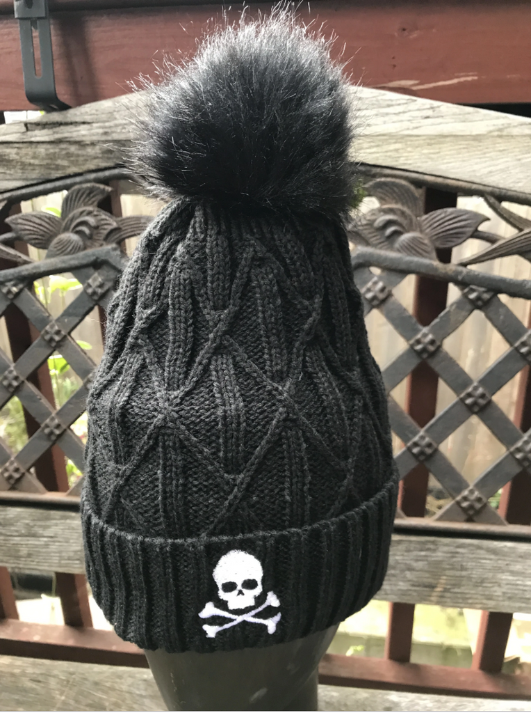 Midnight Pom Pom Mania Hat - Black