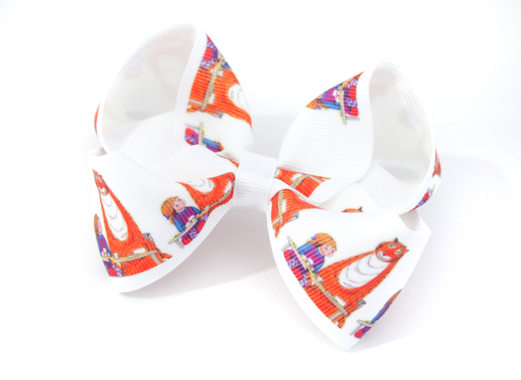 ' The Tiger who came to tea' large boutique bow