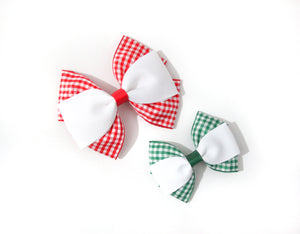 Triple Pinch Gingham Bows - All sizes