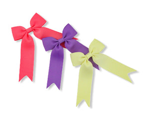 Set of 3 Coral Rose, Cadbury Purple & Pale Yellow - All Style & Size Bows
