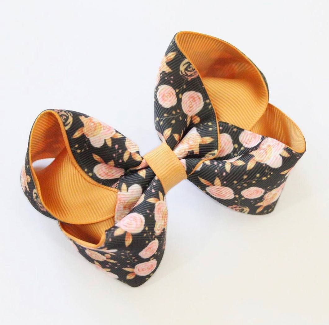 Autumn Bloom Large Boutique Bow