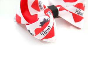Personalised Heart Bows - all sizes