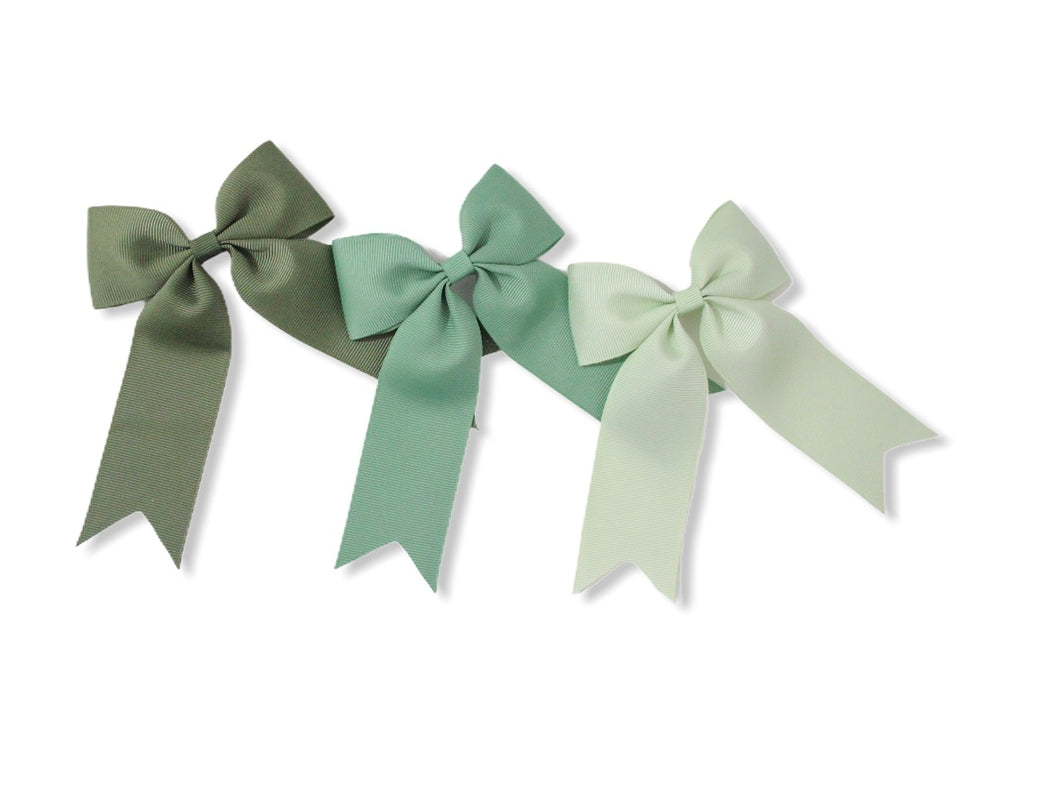 Set of 3 Khaki, Sage & Seafoam Green - All Style & Size Bows