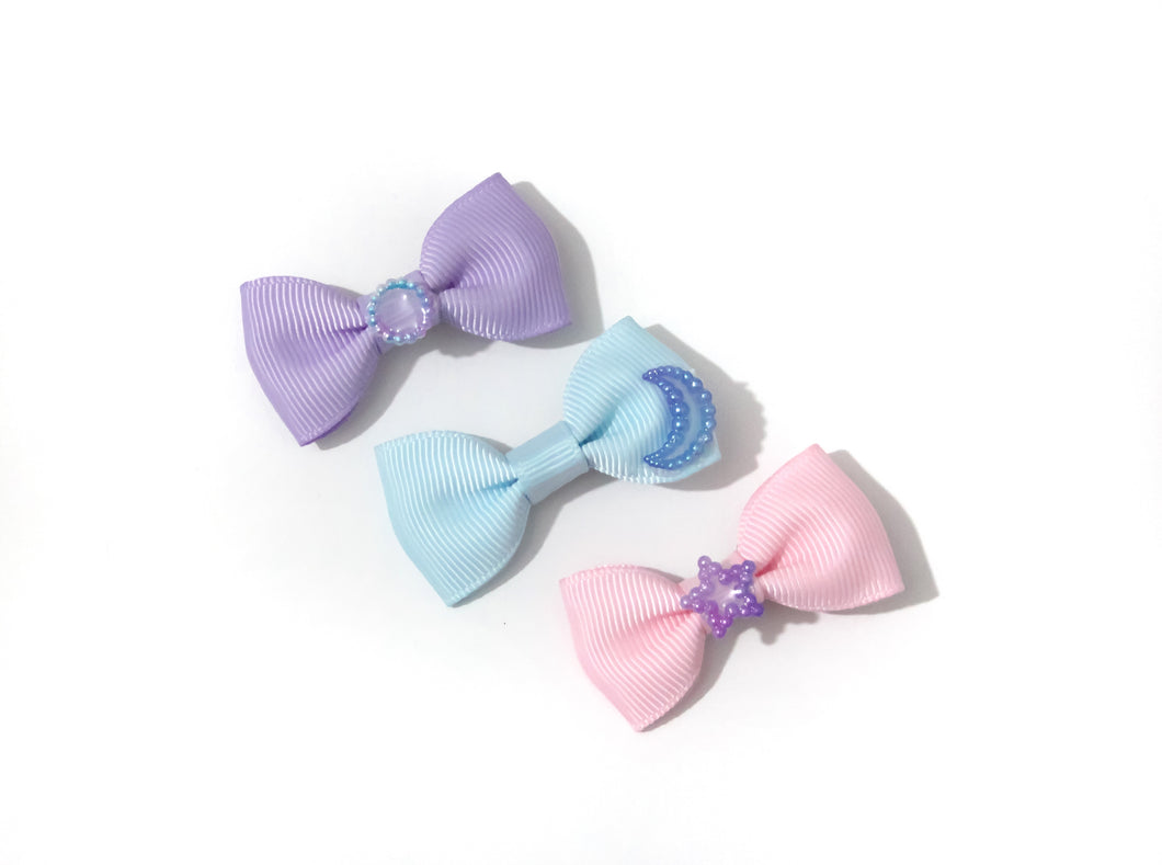 Galaxy pearl mini bow set