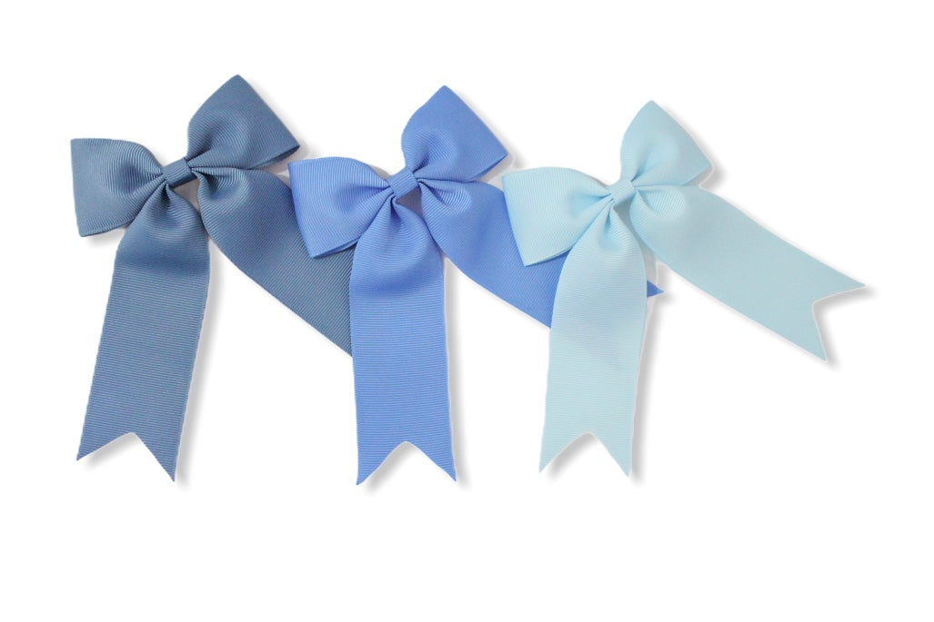 Set of 3 Antique Blue, Capri Blue & Baby Blue - All Style & Size Bows