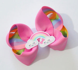 Rainbow clouds large boutique bows