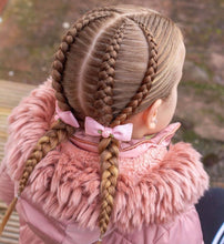 Load image into Gallery viewer, Pink Rose single pinch Bow - Clips and Headbands