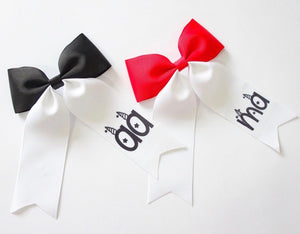 Personalised Large Ponytail Bows - All Fonts