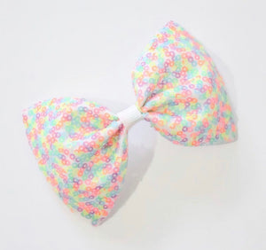 Neon Sequin XL Pinch Bow