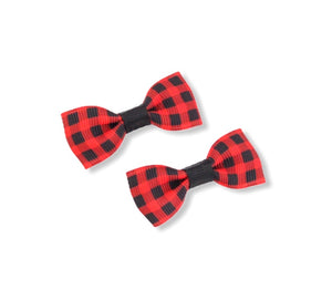 Red Check mini bows