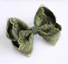 Load image into Gallery viewer, Lace Large Boutique Bows - All Colours