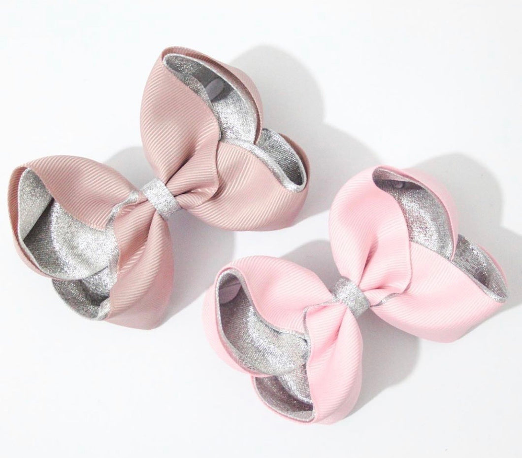Metallic Lined Large Boutique Bows - All Colours
