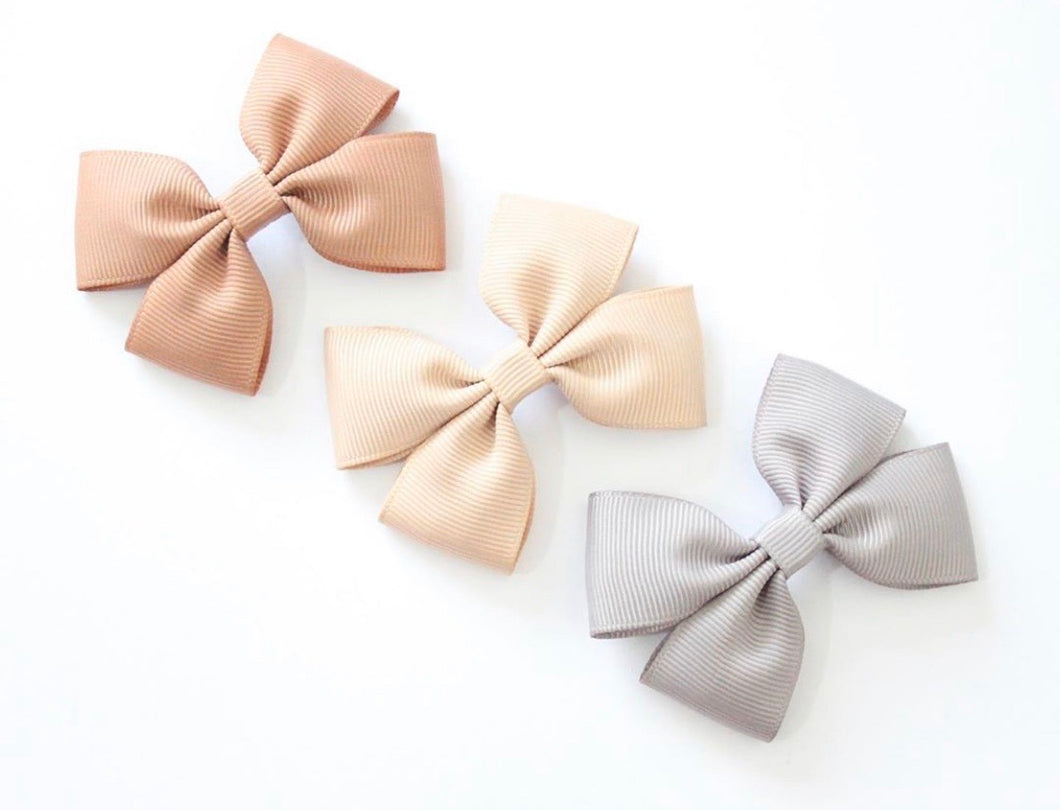 Double Pinch Bows - Clips and Headbands