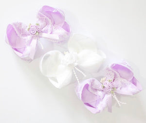 Rose Bouquet Lace Large Boutique Bows