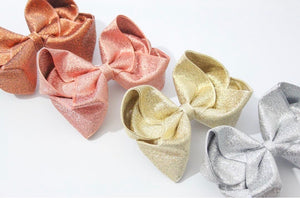 Metallic Large Boutique Bows