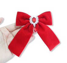 Load image into Gallery viewer, Gemstone Velvet Ponytail Bows