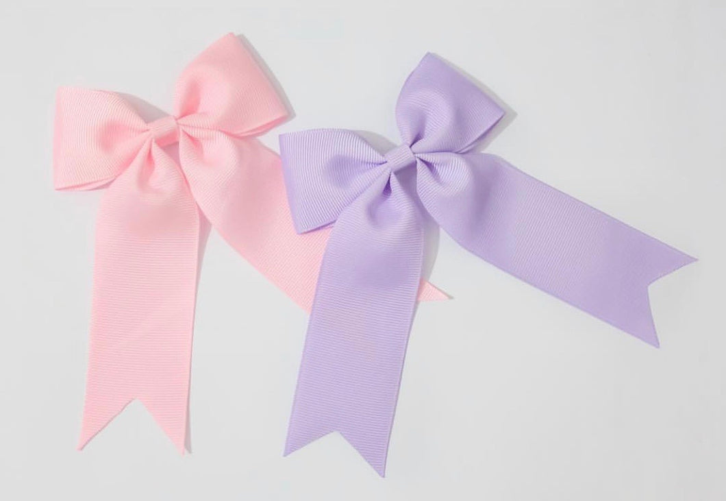 Large Ponytail Bow Clips