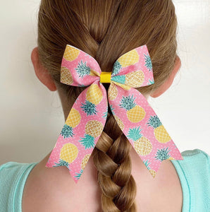 Pineapple Large Ponytail bows