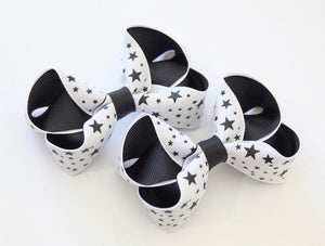 Star Print Small Boutique Bow