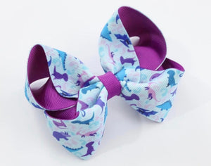 Dino print large boutique bow