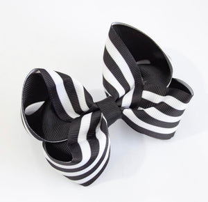 Mono stripe large boutique bow