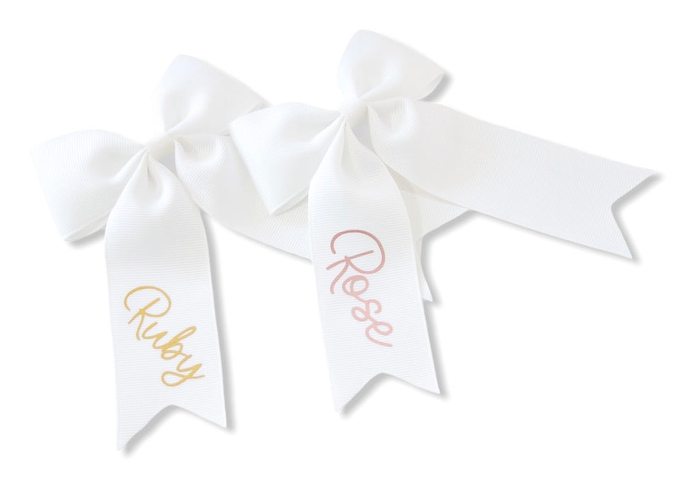 Personalised Large Ponytail Bows