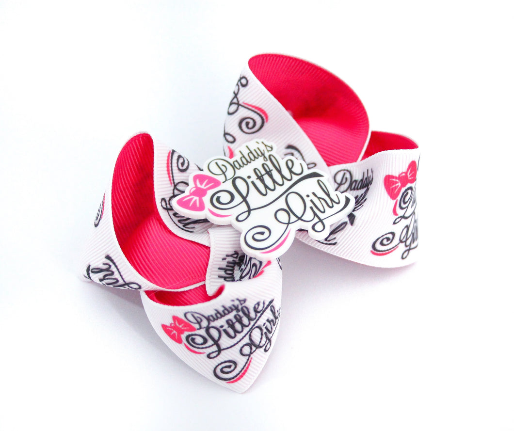 Daddy's Little Girl Large boutique Bow